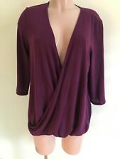 SLINKY BRAND Size M Purple Cross Body Lightweight Sweater NWOT