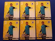 Rewe Fussball EM 2012 DFB Karten Sammelbilder Mannschaft 6 x Torwart Rene Adler