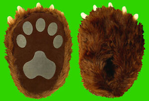 Brown Bear Paw Childrens Slippers