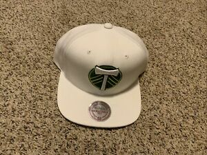 Portland Timbers Mitchell And Ness Hat Snapback White Adjustable Fit MLS