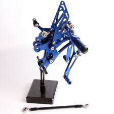 Anodized Aluminum Blue Rearsets For Yamaha YZF-R1 1998-2001 Foot rests contrls