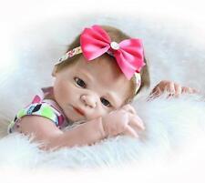 23'' Reborn Baby Girl Doll Full Silicone Soft Handmade Lifelike Toys Gift 2018 i