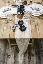 Tischläufer / Tischband Vintage aus weißer Spitze - Breite 15cm / Länge 9 Meter
