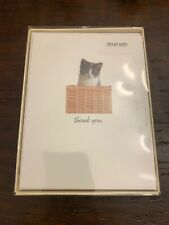 Carlton Cards Box (20) Cat Thank You Cards Blank