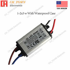Constant Current LED Driver 1-2X3W DC 2-6.8V 600mA Lamp Waterproof Power Supply