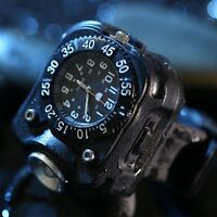3 In 1 Tactical CREE LED USB Rechargeable Wrist Watch Flashlight Torch Compass