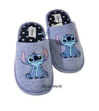 Disney Lilo & Stitch Ladies Slippers Women's Blue Indoor Soft Slip On Primark