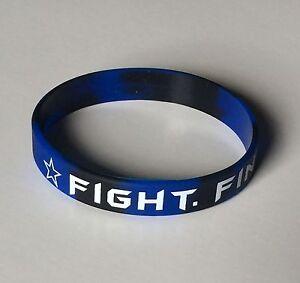 "Dallas Cowboys ""FIGHT. FINISH. FAITH."" Dak Prescott Silicon Wristband Bracelet"