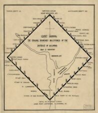 """20"""" x 24"""" 1906 Chart Showing The Original Boundary Milestones Of The District"""