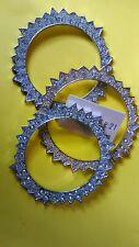 Lot of 3~Forever 21 Tri-Color Star Stud Bracelets Bangles Set