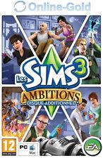 Les Sims 3 - Ambitions (pack d'extension) Clé - EA Origin Carte - PC Jeu - FR