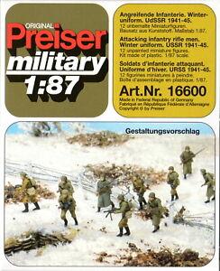 Preiser 16600 Angreifende Infanterie in Winteruniform UdSSR 1941-45