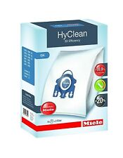 4 PACK GENUINE GN MIELE 3D HYCLEAN VACUUM HOOVER CLEANER DUST BAGS WITH FILTERS