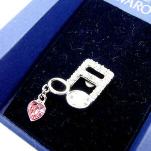 SWAROVSKI pin Silver Pink Woman Authentic Used Y1473