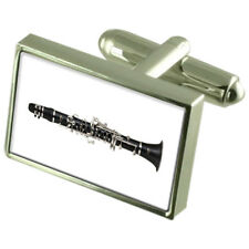 Music Clarinetto in Argento Sterling 925 Gemelli in Scatola