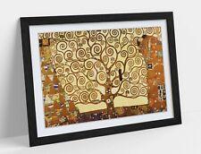 GUSTAV KLIMT THE TREE OF LIFE -ART FRAMED POSTER PICTURE PRINT ARTWORK- ORANGE