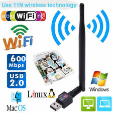 600M USB 2.0 Wifi Router Wireless Adapter Network LAN Card w/5dBI Antenna for PC