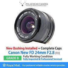 ⭐SERVICED⭐ CANON FD 24mm F2.8 New FD *NEW BUSHINGS* Full Frame + Caps [GRADE B]