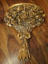 Wandkonsole Rosen Gold Konsole Antik Barock Wandregal Ablage Jugendstil Edel NEU