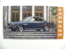 Petite brochure KARMANN BMW CS 2.5 / 3.0 de 1971
