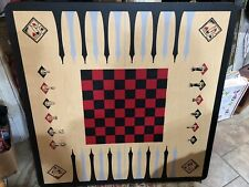 """3 in 1 SOLID WOOD CHESS CHECKER BACKGAMMON TABLE 36""""X 36"""", Adjustable Legs"""