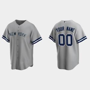New York Yankees Gray Replica Road Custom Jersey Baseball Jersey S-5XL