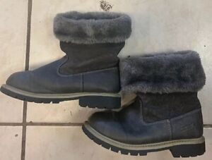 Carters Girls Faux Fur Boots Gray Size 2