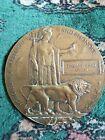 WW1 Death Plaque ( Death Penny ) Royal Flying Corps Thomas John Owen 1917