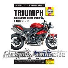 Haynes Service & Repair Manual 4796 Triumph 1050 Sprint ST, Speed Triple & Tiger