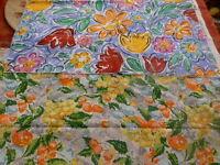lot=== tissus  vintages colorés,fruits et fleurs  neufs