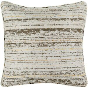 Arie by Surya Pillow, Dk.Brown/Lt.Gray/Mustard, 20' x 20' - AE001-2020
