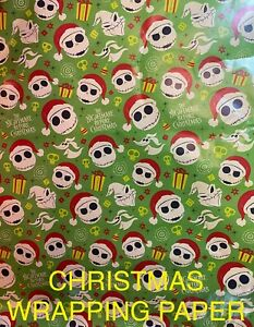 DISNEY NIGHTMARE BEFORE CHRISTMAS - WRAPPING PAPER 20 SQ FT🎄🎁 SALE