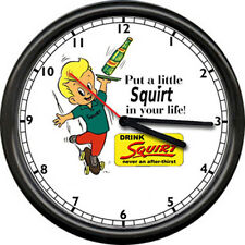 Squirt Soda Pop Diner Retro Advertising Skateboard Boy Sign Wall Clock