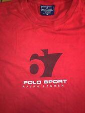 Mens Vintage 100% authentic Ralph Lauren Polo Sport T-shirt Sz (M) Medium