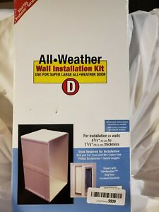 Perfect pet All Weather Pet Door Installation Kit, Super Large Size