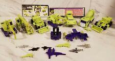 lot transformers G1 Constructicons Devastator Hasbro Takara Vintage 1980-1984