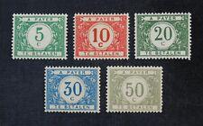 CKStamps: Belgium Stamps Collection Scott#J17-J21 Mint H OG
