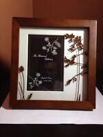 "Sheffield Home Photo Frame Botanical Collection Walnut Wood 4"" x 6"" New"