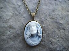 In Bronze! Christmas, Easter! Jesus Cameo Pendant Necklace! Se