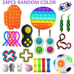 24 Pack Fidget Toys Set Sensory Tools Bundle Stress Relief Hand Kids Adults Toy