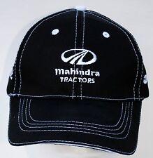 Mahindra New OEM ball cap / hat black / white stitched - tractor farm yard