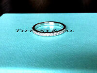 Tiffany & Co Platinum Novo Diamond Wedding Band  $2600 NEW SIZE 6
