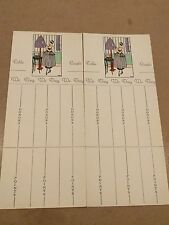 """#Lot of (2) TALLY SCORE CARDS for card game Made In France """"Fancy Lady"""""""