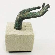 The old sandstone buddha's hand.Office supplies paperweight staionery