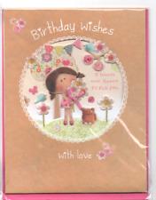 CARTE NEUVE-JOYEUX ANNIVERSAIRE- Birthday wisches-carte chevalet-15 X 19,5 cm-