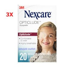 Nexcare 3M Opticlude Orthoptic Eye Patch Regular Size 3 Boxes 60 Pcs Expire 2024