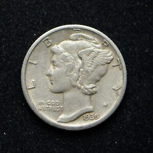 1935-S Mercury Silver Dime BU (cn8579)