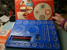 Vintage 1967 Kenner Spirograph 401 100% Complete Pens Pins Paper Wheels Instruct