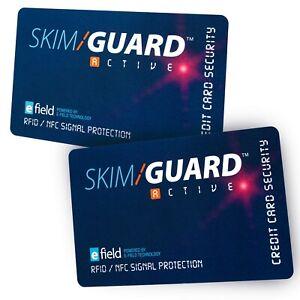 SkimGuard RFID Debit & Credit Card Protector Security  Signal Blocker Pack of 2
