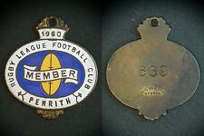 Penrith Panthers Leagues Club Member badge 1960